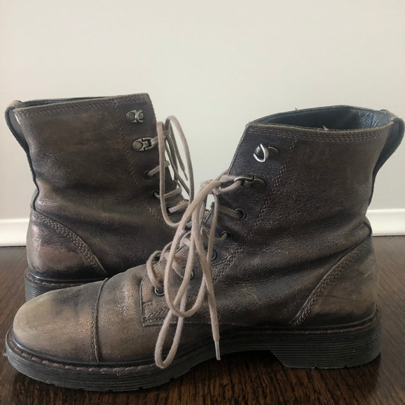 2f538156e59f8 Paul Green Shoes | Metallic Lace Up Boots | Poshmark